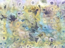 Original Art Resin Painting with Pearl & Metallic Tints By Helen Bland