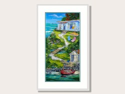 Summer Holiday Framed Print by Caren Glazer