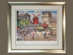 Paris Moulin Rouge Framed Print