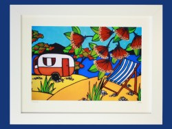 Camping Framed Print by Jo May
