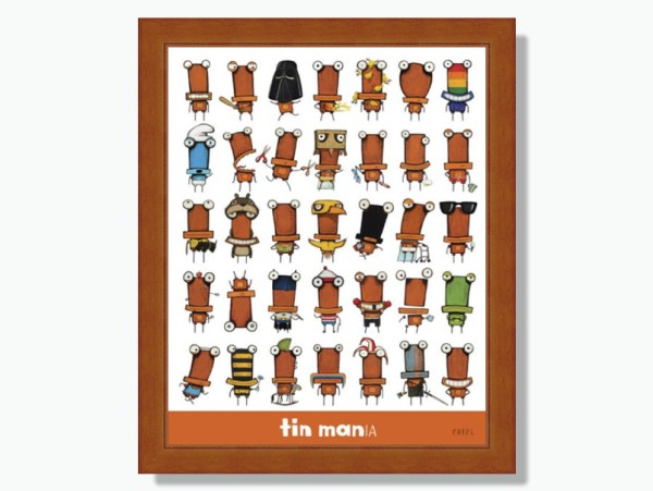 Tin Mania by Tony Cribb Framed Print