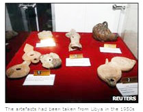 relics returned to Libya