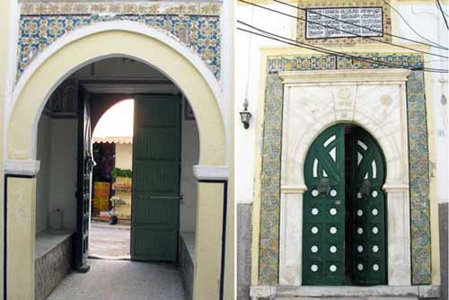 entrance to gurji mosque in Tripoli
