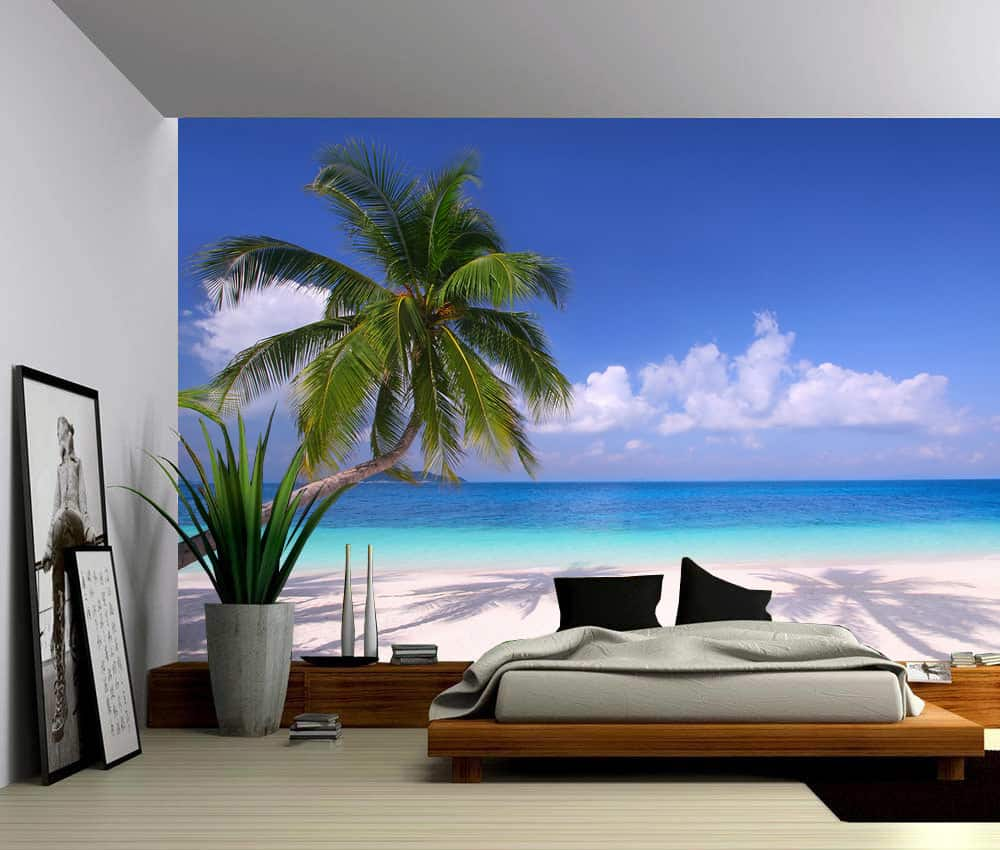 Seascape Palm Beach Summer Tropical Tree Selfadhesive