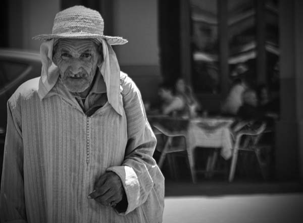 black and white photography morocco