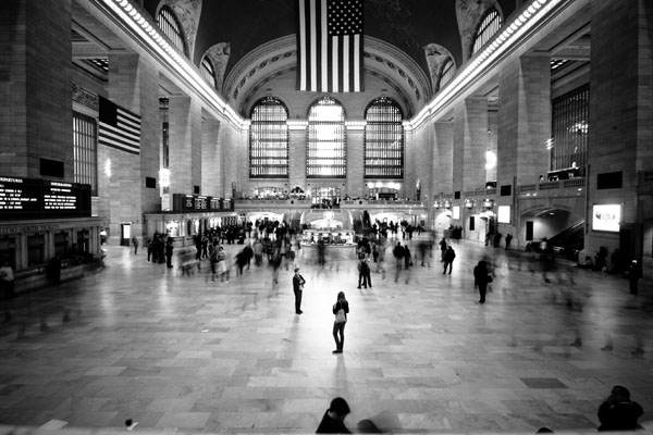 Grand Central New York Black and White