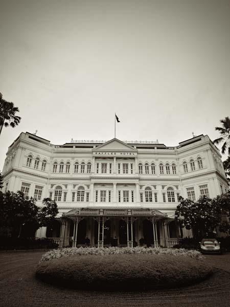 Singapore black and white