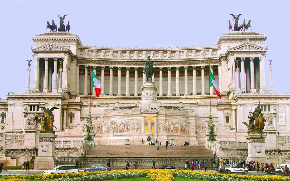 Image result for Vittorio Emanuele II monument known as Il Vittoriano).