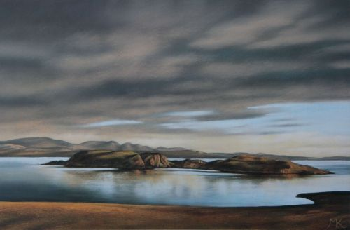 Evening Light Horse Island - Scotland Landscape Painting