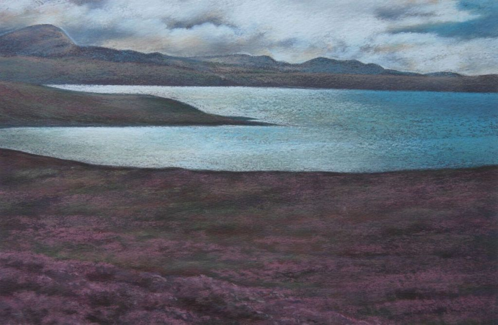 Heather Time Loch Broom - Scotland Landscape Painting