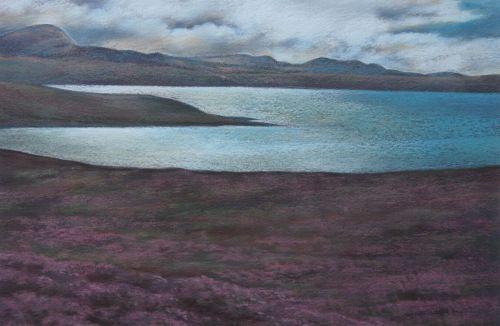 Heather Time - Scotland Landscape Painting