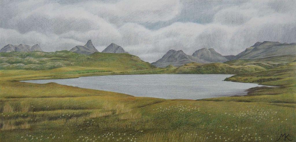 Loch Oscaig - Scotland Landscape Painting