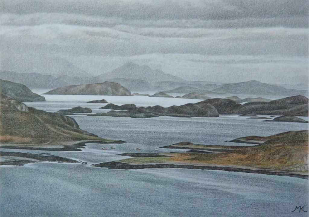 Old Dornie Harbour - Scotland Landscape Painting