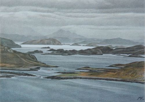 Old Dornie Harbour and the Summer Isles - Scotland Landscape Painting