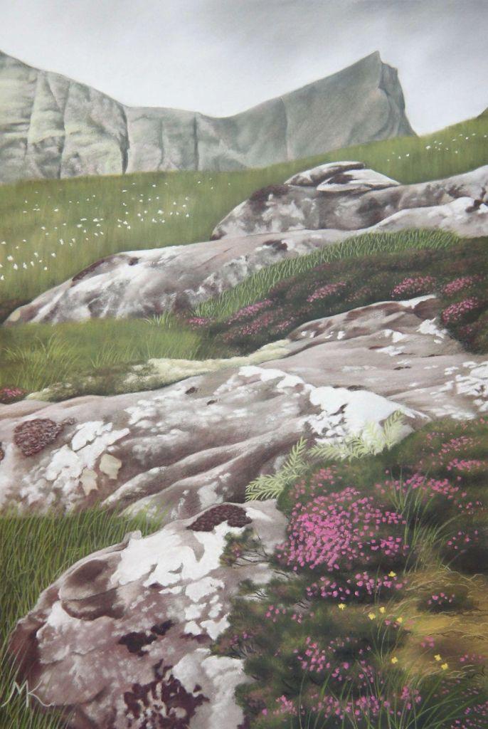 Rocks and Heather - Scotland Landscape Painting
