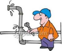 A Plumber Fixing a Leaking Water Pipe - Royalty Free ...