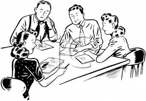 An Office Manager Conducting a Meeting with Employees