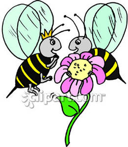 Cartoon Queen Bee - Royalty Free Clipart Picture