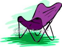 A Purple Butterfly Chair - Royalty Free Clipart Picture