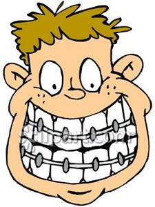 Boy with Braces  Royalty Free Clipart Picture