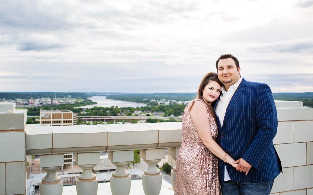 Allyson + Brodie | The Mayo Hotel Engagement | Tulsa, Oklahoma