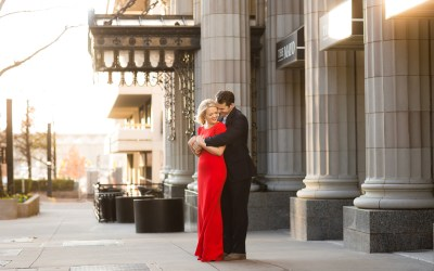 Kirsten + Ian | Mayo Hotel and downtown Tulsa Engagement