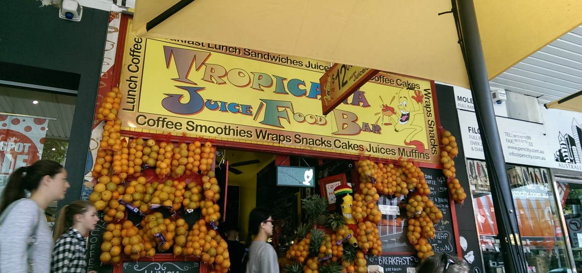 Image of the front of Tropicana Juice Bar