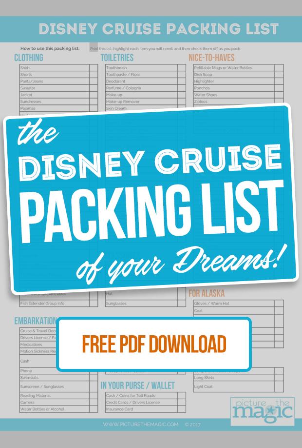 cruise checklist