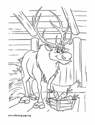 coloring pages of frozen sven dog | 101 Frozen Coloring Pages (July 2018 Edition) - Elsa ...