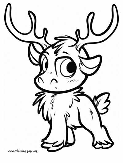 Frozen Sven Printable Coloring Pages