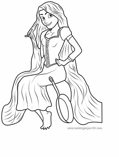 170 FREE Tangled Coloring Pages (May 2018) Rapunzel Coloring Pages