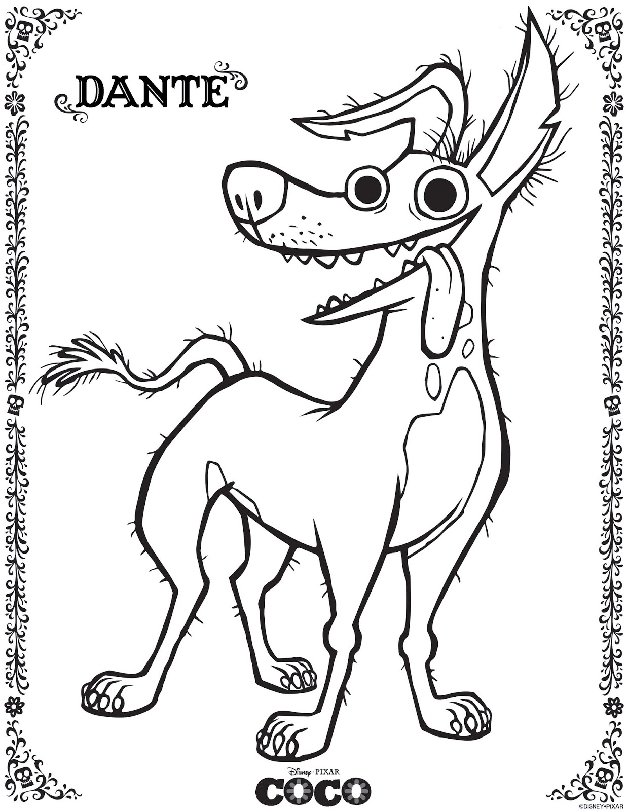 Coco Coloring Pages July 2018