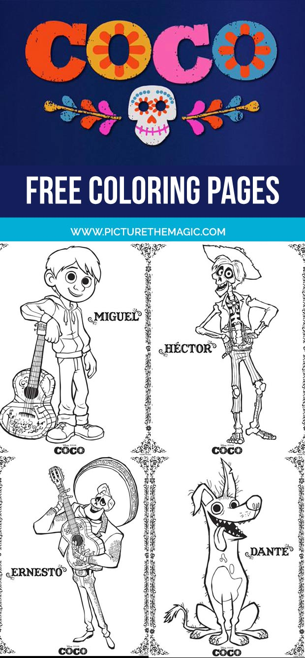 coco coloring pages print them one at a time or download them all - Coloring Page Coco