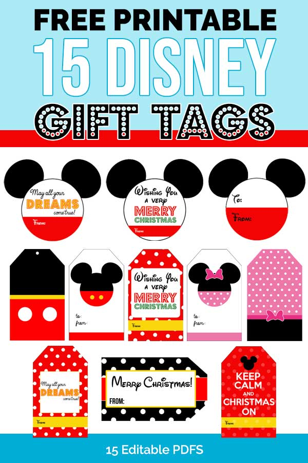 Free 15 Disney Gift Tags Download Personalize 2020
