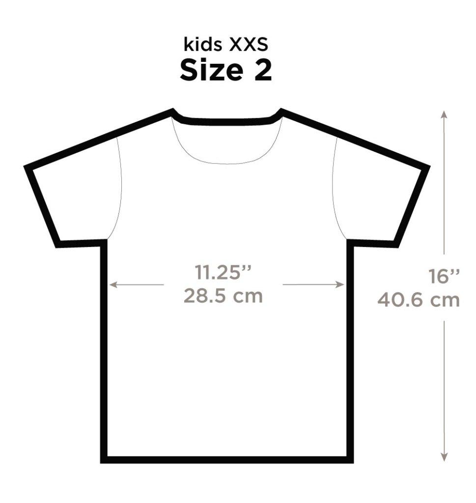 Size 2T Kids XXS
