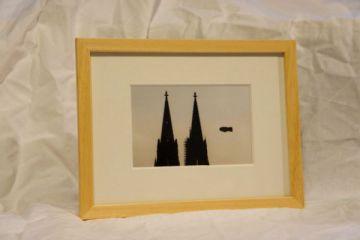Motiv Kölner Dom mit Zeppelin (SW)