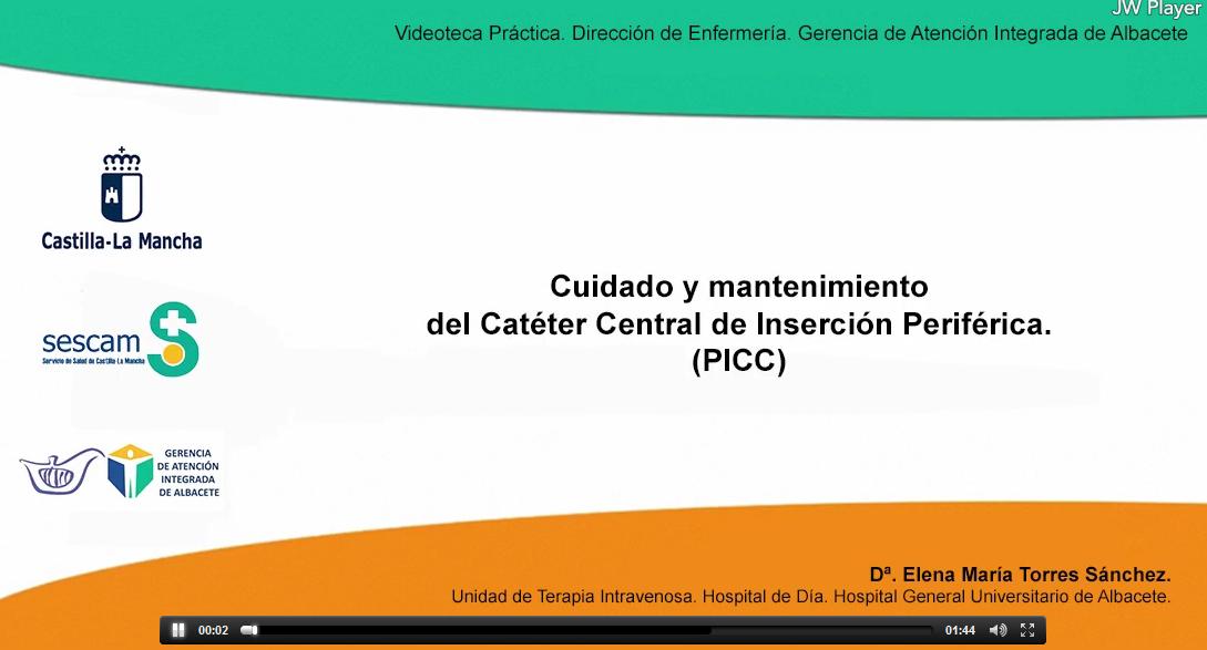 Vídeo: Cuidados y mantenimiento del Catéter Central de Inserción Periférica (PICC)