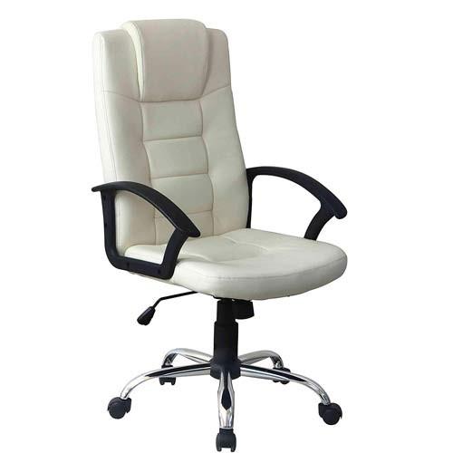 Una scrivania, una sedia, uno scaffale per organizzare documenti e. Poltrona Direzionale Ufficio Girevole In Ecopelle Sedia Presidenziale Beige Con Braccioli Schienale E Ruote Per Scrivania