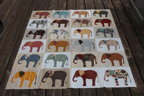 Elephant Quilt project, (c) 2017 piecefulthoughts.com