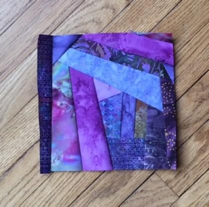 Pieceful Monday - my little purple batik block