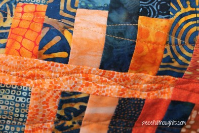 Mini Quilt Detail - piecefulthoughts.com