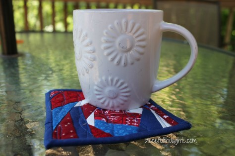Happy 4th - mug mat - piecefulthoughts.com