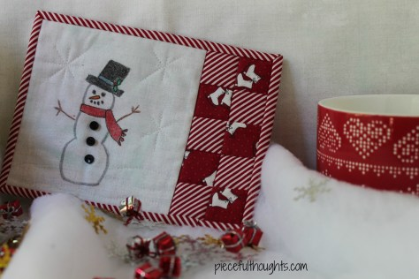 Color Me Christmas - Mug Mat - piecefulthoughts.com