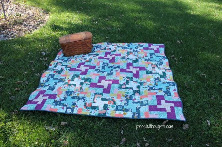 Wedding Quilt - Maureen Cracknell's Garden Dreamer fabric, pattern from Hawthorne Threads - piecefulthoughts.com