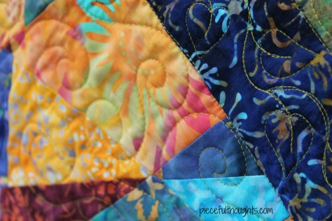 Batik Finish - Front Detail view - piecefulthoughts.com