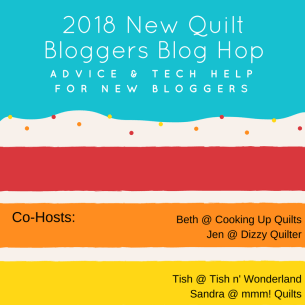 Friday Bits and Pieces - New Quilt Bloggers Blog Hop 2018 - piecefulthoughts.com