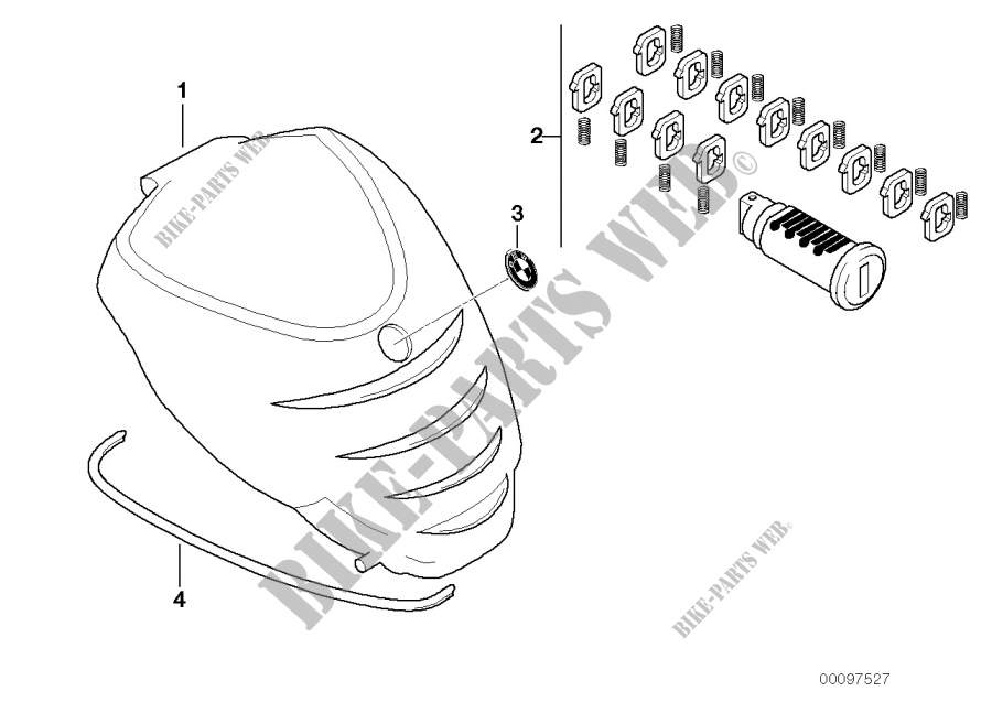 Hardcase avant pour BMW F 650 CS Scarver de 2000 # BMW