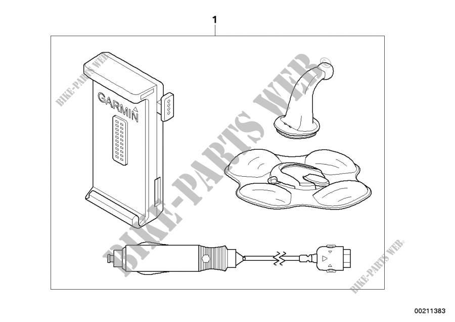 Kit de montage voiture pour navigator IV pour BMW R 1200