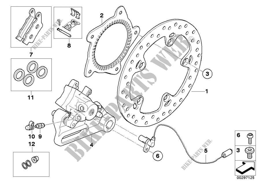 Frein de roue arrière pour BMW F 800 GS 17 de 2014 # BMW
