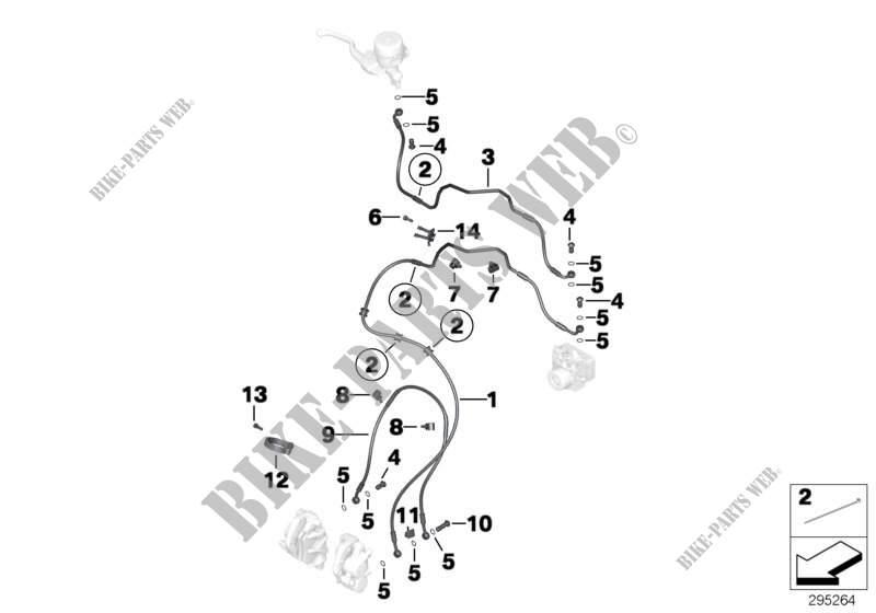 Tuyau de frein avant ABS pour BMW F 800 GS 17 de 2014